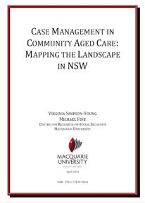 Case Management in Community Aged Care: Mapping the Landscape in NSW title page