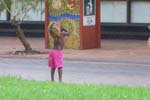 Child playing in Todd Mall, Alice Springs. Photo by: Dr Lorraine Gibson